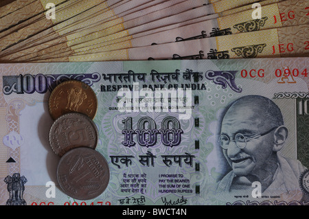 Indian rupees - Stock Photo