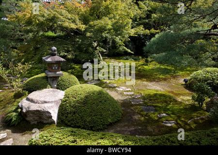 Japanese garden unryu-in temple kyoto, Japan - Stock Photo