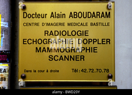 French language sign, French sign, doctors office, medical office ...