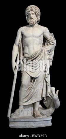Asclepios Greek God of Medicine Statue Louvre Museum Paris