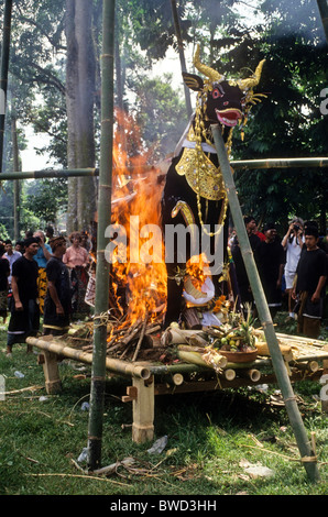 Cremation pyre, Bali, Indonesia - Stock Photo