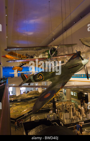 Supermarine Mark 1A Spitfire, transportation gallery, Museum of Science and Industry, Chicago, USA - Stock Photo