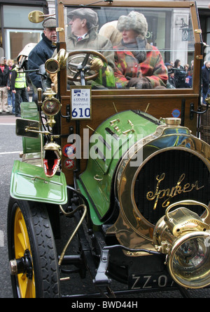 Spyker Double Phaeton from the film Genevieve, now painted green - Stock Photo
