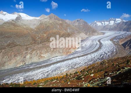 Aletsch Glacier, Switzerland - Stock Photo
