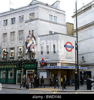 Leicester Square Tube Station - Stock Photo