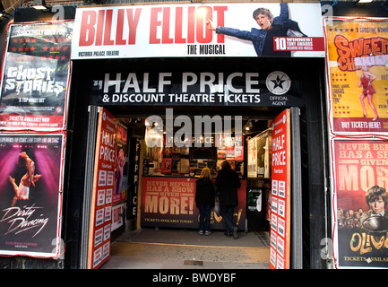 Discounted Theatre tickets for sale in Leicetser Square - Stock Photo