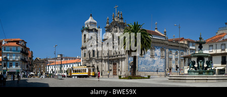 Portugal, Porto, the igreja dos Carmelitas church - Stock Photo