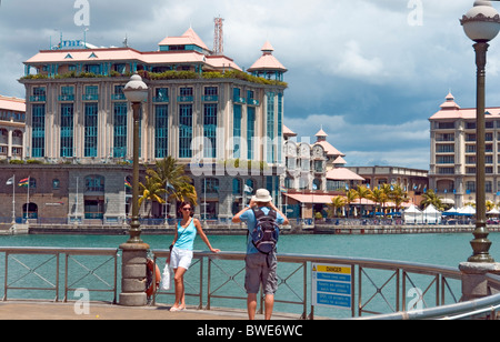 Le Caudan Waterfront shopping and leisure centre in Port Louis, Mauritius - Stock Photo
