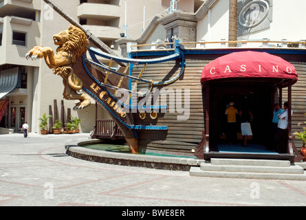 The Casino in Le Caudan Waterfront shopping and leisure centre in Port Louis, Mauritius - Stock Photo