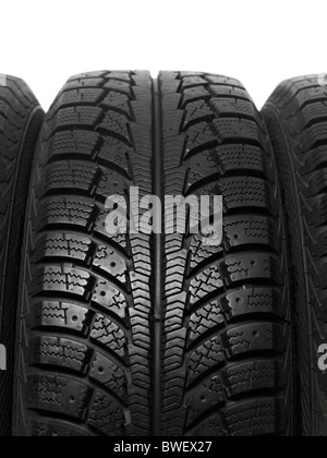 Closeup of a winter car tire tread Stock Photo