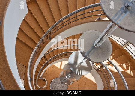 The De la Warr Pavilion on the seafront in Bexhill Sussex - Stock Photo