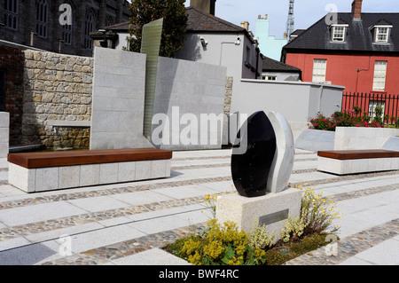 Garda Siochana Memorial Garden in Dublin Castle Gardens, Dublin city, Ireland - Stock Photo