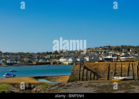 View of Appledore North Devon from Instow. - Stock Photo