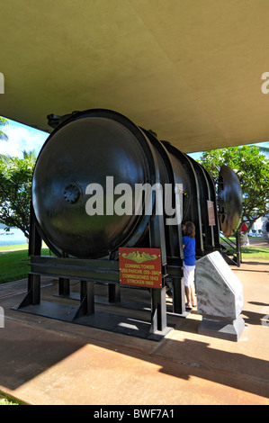 Conning Tower on Display Pearl Harbor Pacific National Monument Hawaii - Stock Photo
