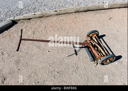 old fashioned hand lawn mower stock photo royalty free image 35334582 alamy. Black Bedroom Furniture Sets. Home Design Ideas
