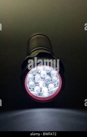 White LED - Light Emitting Diode Flashlight - Stock Photo