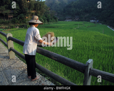 Dong minority in Sanjiang, Guangxi Province, China - Stock Photo