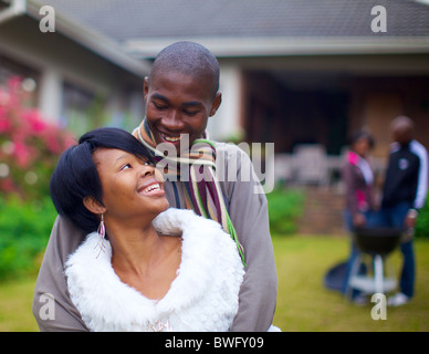 Young couple looking at each other, KwaZulu-Natal, South Africa - Stock Photo