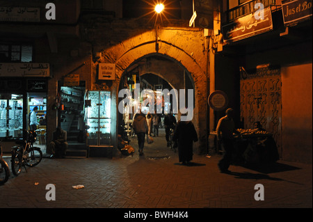 Marrakesh Morocco 2010 - The entrance to one of the narrow streets off Jamaa El Fna market square in Marrakesh Morocco - Stock Photo