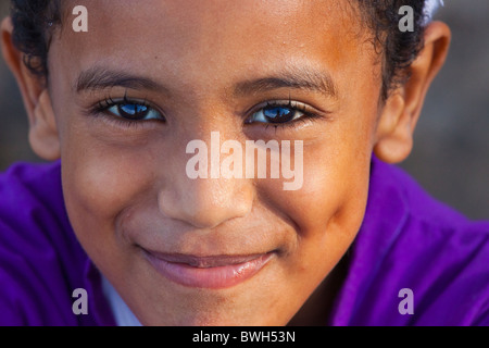 Muslim boy, Lamu Island, Kenya - Stock Photo