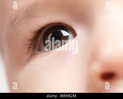 Closeup of an eye of a six month old baby boy - Stock Photo