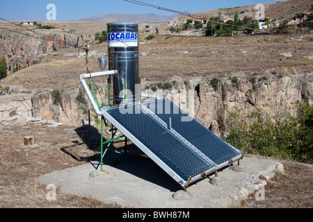 Solar  panels heating water tank in Cappadocia, Turkey 101476 Turkey) - Stock Photo