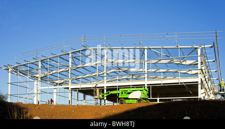 a new industrial building under construction - Stock Photo