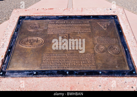 Plaque at Four Corners Monument, New Mexico - Stock Photo