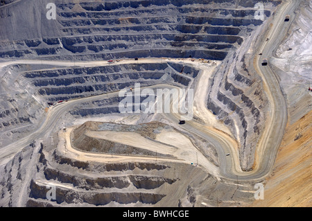 Close-up of Bingham Kennecott Copper Mine Open Pit Excavation - Stock Photo