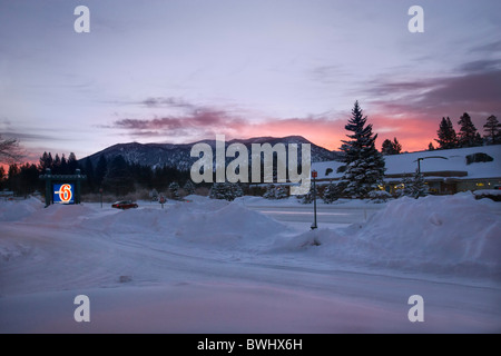 a view of lake tahoe california with snowy trees in the. Black Bedroom Furniture Sets. Home Design Ideas