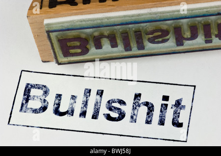 Stamp bullshit - Stock Photo