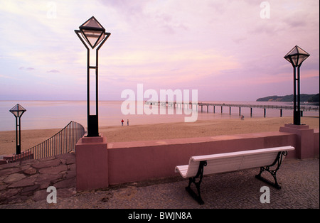 Europe, Germany, Mecklenburg-Western Pomerania, Isle of Ruegen, Binz seaside resort, seaside promenade - Stock Photo