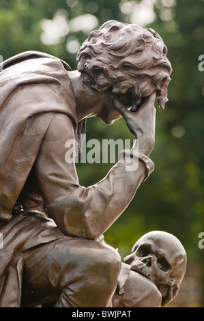Hamlet Statue Stratford upon Avon, Warwickshire, U.K. - Stock Photo