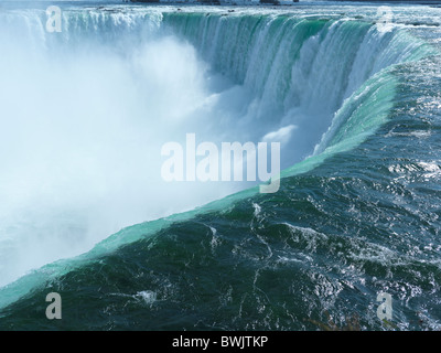 Beautiful fall nature scenery of Niagara Falls Canadian Horseshoe - Stock Photo