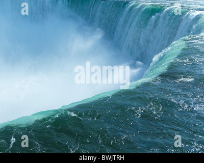 Beautiful nature scenery of Niagara Falls Canadian Horseshoe waterfall - Stock Photo