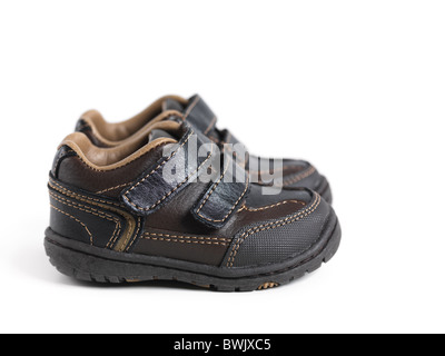 Winter baby shoes isolated on white background - Stock Photo