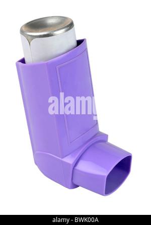 """Inhaler, asthma inhaler or puffer on """"white background"""" - Stock Photo"""