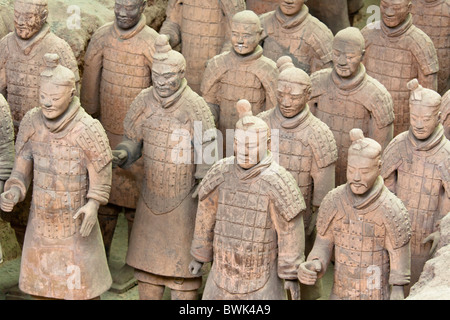 Terracotta army, Xi'an, Shaanxi Province, China - Stock Photo