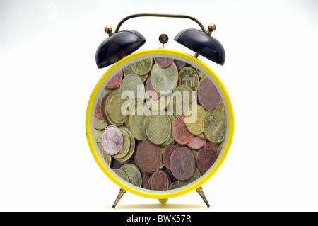 clock watch alarm clock time money Expensive business finances financial community euro bank bills banknote