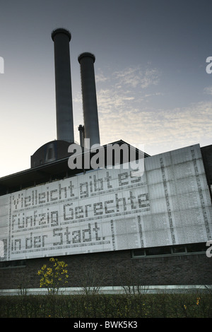 Art at the Central Power Plant, Berlin Mitte, Berlin, Germany - Stock Photo