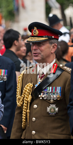 General Sir David Richards, Head of the British Army at the 65th Anniversary of the Victory overJapan in 2nd WW. - Stock Photo