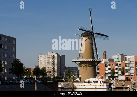 Delfshaven harbour, Rotterdam, South Holland, Holland, Netherlands, Europe - Stock Photo