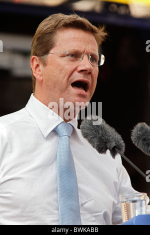 Guido Westerwelle, FDP, German Foreign Minister - Stock Photo