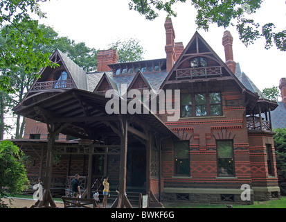 Mark Twain's house in Hartford,Connecticut - Stock Photo