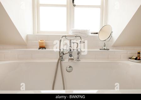 white luxury bathroom - Stock Photo