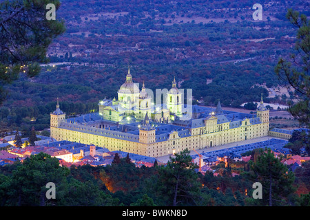 Spain Europe region area Madrid Real Sitio de San Lorenzo de El Escorial castle palace UNESCO world cultural - Stock Photo