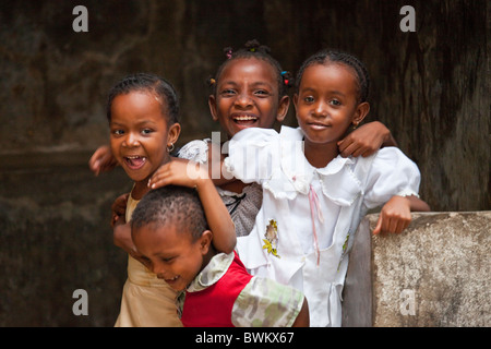 Children on Lamu Island, Kenya - Stock Photo