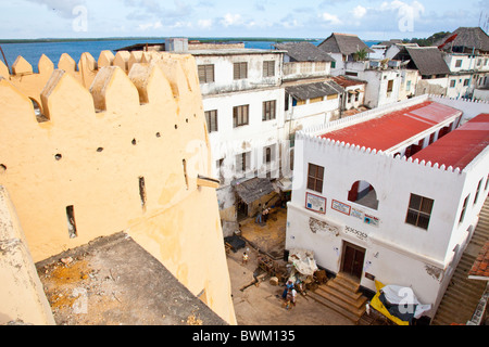 Lamu Fort or Fumo Madi ibn Abi Bakr, Lamu Island, Kenya - Stock Photo