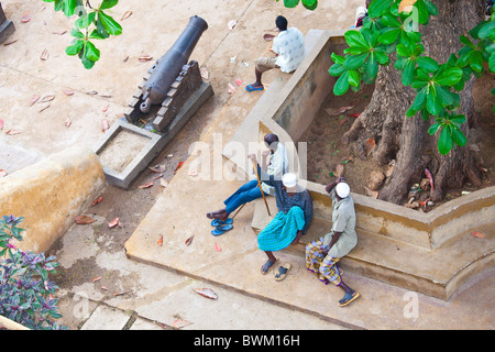 View from Lamu Fort or Fumo Madi ibn Abi Bakr, Lamu Island, Kenya - Stock Photo