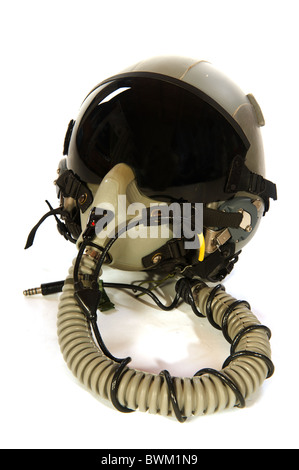 American aircraft helmet isolated over white - Stock Photo